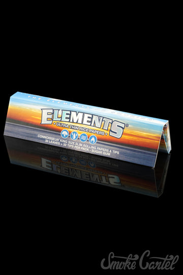 Elements King Size Connoisseur Rolling Papers with Rolling Tips - Elements - - Elements King Size Connoisseur Rolling Papers with Rolling Tips