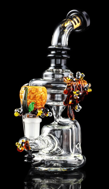 45 Degree Angle - Empire Glassworks Mini Beehive Recycler