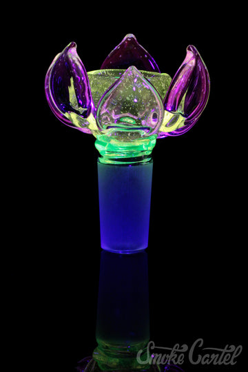 "Featured View - UV Lotus - Empire Glassworks ""Psychedelic Lotus"" UV Reactive Bowl Piece"
