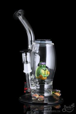 "Empire Glassworks ""Teenage Turtles"" Concentrate Rig"