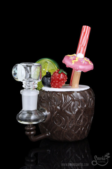 "Featured View - Empire Glassworks ""Coconut Colada"" Mini Rig"