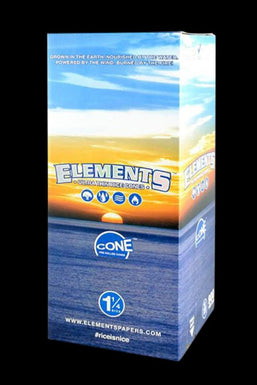 "Elements Rice 1 1/4"" Pre-Rolled Cones - 900pc Bulk Box"