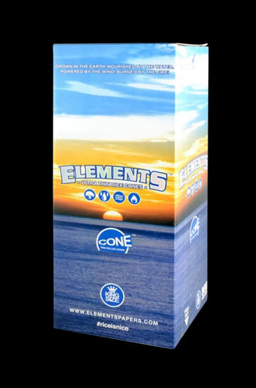 Elements Kingsize Rice Pre-Rolled Cones - Bulk 800 Pack