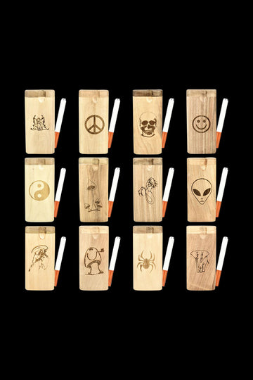 Engraved Wood Dugouts - 12 Pack