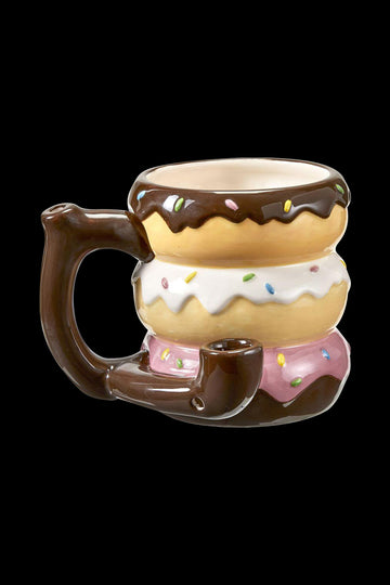 """Everything Is Better with Donuts"" Ceramic Smokable Mug Pipe"
