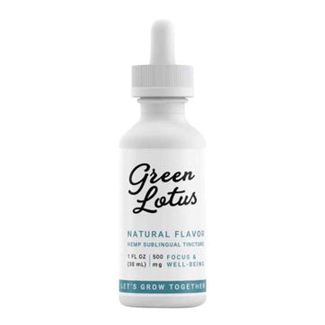 500mg / Natural Unflavored - Green Lotus Hemp Oil Tincture