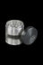 "Gun Metal Silver - Grindhouse 2.2"" Aluminum 4pc Grinder with Side Window"