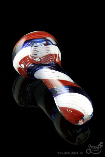 "Glassheads ""Yankee Doodle"" Patriotic USA Made Spoon - Glassheads -  - Glassheads ""Yankee Doodle"" Patriotic USA Made Spoon"