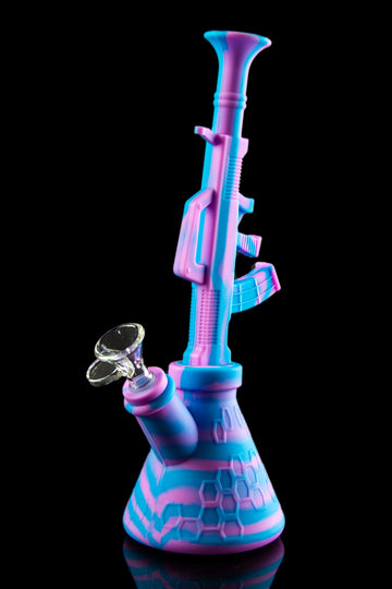 "The ""Machine Gun"" Silicone Water Pipe - The ""Machine Gun"" Silicone Water Pipe"