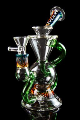 "The ""Silent Klein"" Recycler With Inline Perc & Wig Wag Accents"