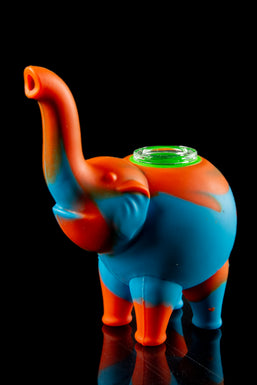 """Ellie"" The Silicone Elephant Bubbler Pipe"