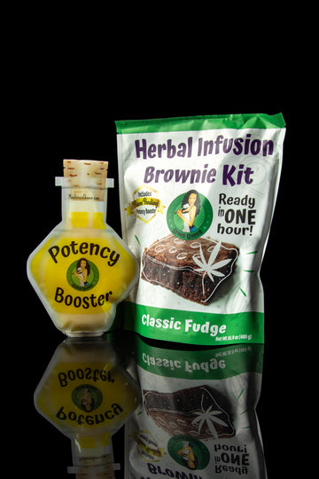 Green Queen Herbal Infusion Brownie Kit with Potency Booster - Green Queen Herbal Infusion Brownie Kit with Potency Booster