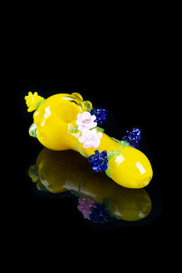 """Garden of Paradise"" Decorated Spoon Pipe"