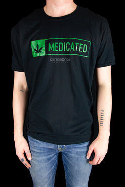 """Cannabros """"Medicated"""" Graphic T-Shirt"""
