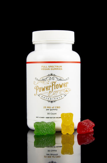 Power Flower Botanicals CBD Vegan Gummy Bears - Power Flower Botanicals CBD Vegan Gummy Bears