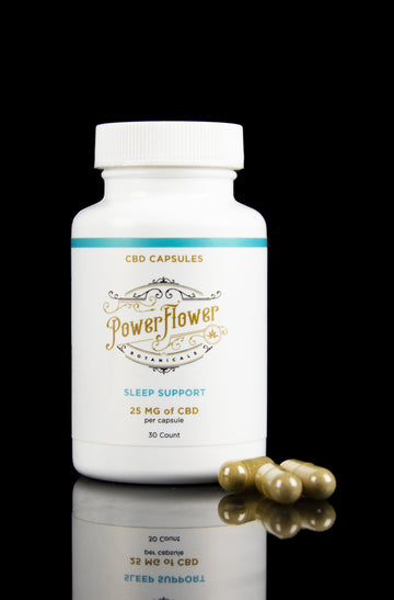 Power Flower Botanicals CBD Sleep Support Capsules - Power Flower Botanicals CBD Sleep Support Capsules