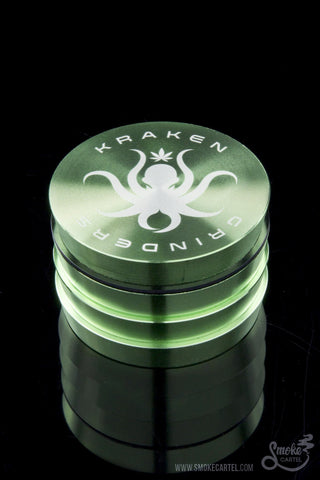 Kraken Grinders - Easy Grip Tiers 2.5  inches 4-parts   or 2.2 inches  4-Piece Grinder
