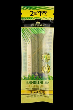 King Palm Hand Rolled Leaf Blunt Wraps - 20 Pack