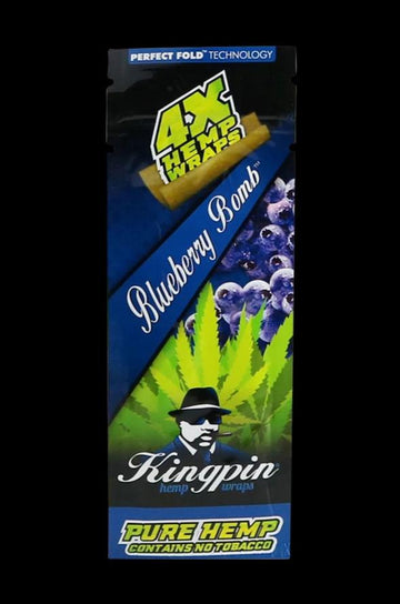 Blueberry - Kingpin Hemp Wrap (4 Wraps) - 25 Pack