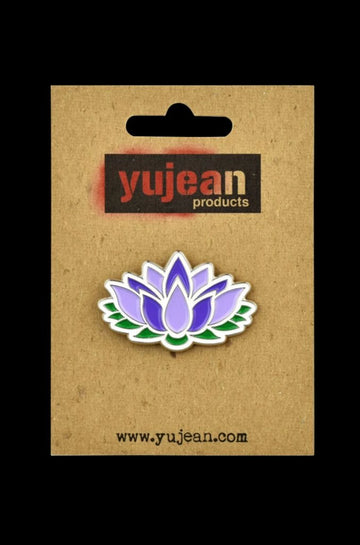 Lotus Flower Enamel Lapel Pin