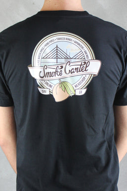 Smoke Cartel Badge American Apparel Men's Pocket Tee