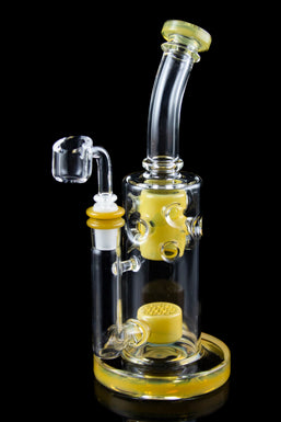 """The Popper"" Inverted Honeycomb Perc Swiss Dab Rig"