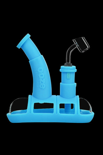 Teal - Ooze Steamboat Silicone Bubbler Boat Bong