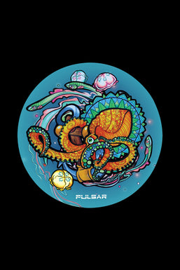 "Pulsar ""Psychedelic Octopus"" DabPadz Round Dab Mat"