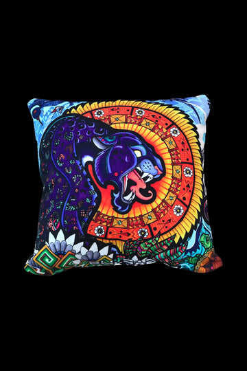 Psychedelic Jungle - Pulsar Psychedelic Throw Pillow