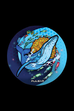 "Pulsar ""Psychedelic Whale"" DabPadz Round Dab Mat"
