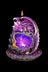 Purple Dragon Backflow Incense Burner with LED Lights