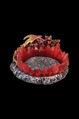 Red Two Headed Dragon Crystals Ashtray