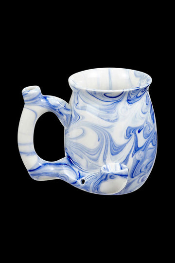 Blue - Roast & Toast Premium Marbled Ceramic Pipe Mug