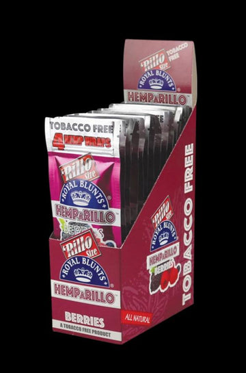 Berry - Royal Blunts Hemparillo Hemp Wraps - 15 Pack