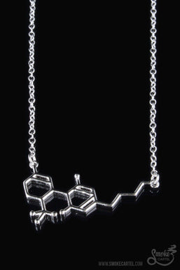Smoke Cartel THC Molecule Necklace