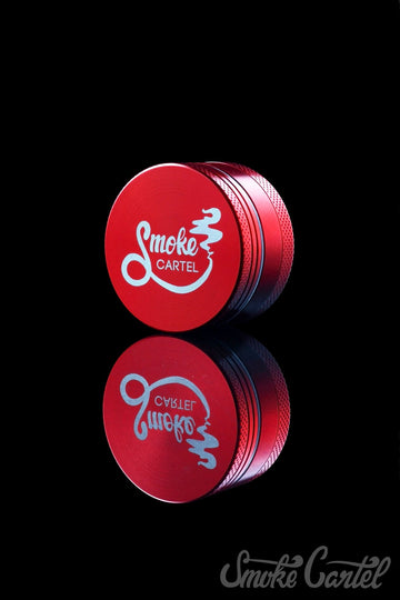 "1.5 Inch / Red - Smoke Cartel Small 1.5"" 3-Piece Grinder - Smoke Cartel - - Smoke Cartel Small 1.5"" 3-Piece Grinder"