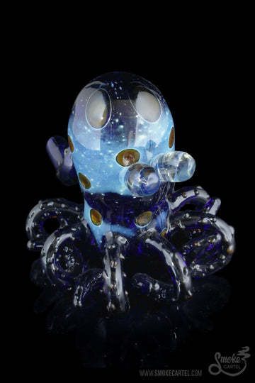 "Blue - ""Tiny Eyes"" Octopus Themed Hand Pipe - Smoke Cartel - - ""Tiny Eyes"" Octopus Themed Hand Pipe"