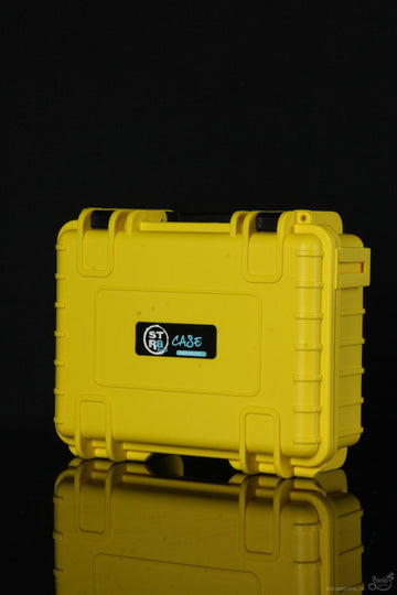 "Featured View - Yellow - STR8 Case 8"" Hard Top Storage Case with 2-Layer Protective Foam and Carrying Handle"