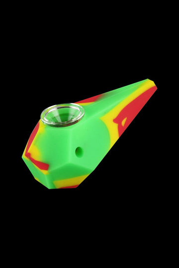 "Rasta - Silicone ""Gemstone"" Shaped Hand Pipe"