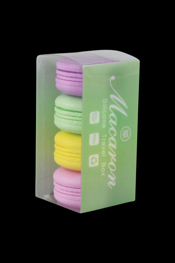 Silicone Macaron Wax Container - 4 Pack