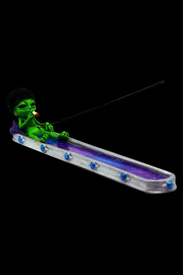 Stoner Alien in Galaxy Incense Burner