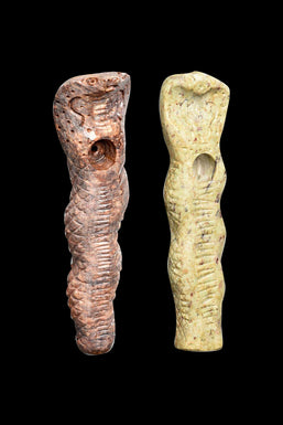 Textured Cobra Carved Stone Pipe