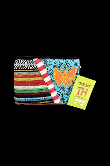 ThreadHeads Multi-color Butterfly Zipper Pouch