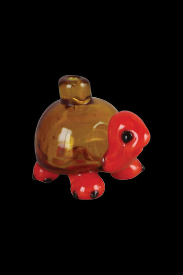 "Amber / Red - ""The Tortoise"" Cute Bubble Shell Carb Cap"