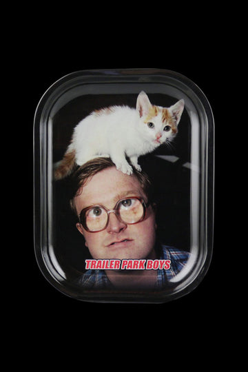 Small - RAW Trailer Park Boys Rolling Tray - Bubbles Kitty