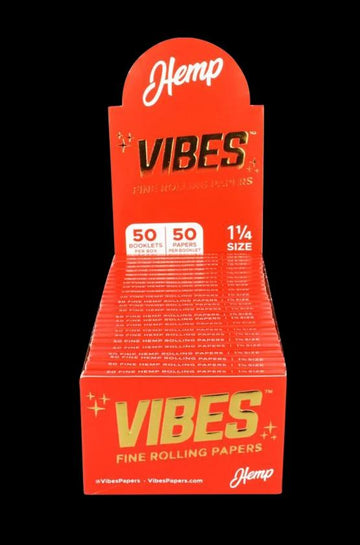 VIBES Hemp Rolling Papers - 50 Pack