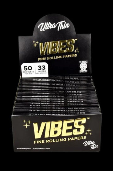 VIBES Ultra Thin Rolling Papers - 50 Pack