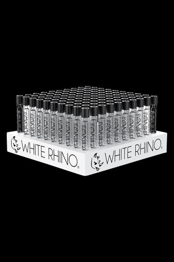 White Rhino Chillum with Silicone Cap - Bulk 100 Pack