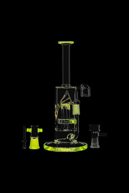 Evolution Super Cell Straight Hybrid Dab Rig with Tire Perc