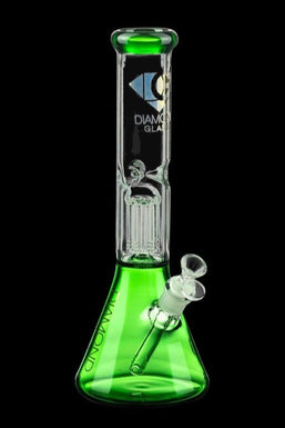 "Diamond Glass 13"" Eight Arm Tree Perc Beaker Bong"